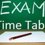 2016年度第二学期期中考考试时间表