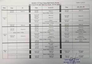 exam date 2