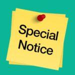 特别通告 Special Notice