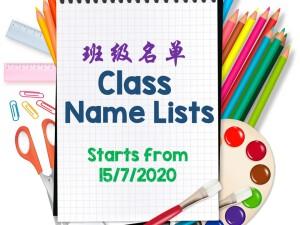 ClassNamelists